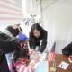 長野マラソンで国際交流ブースを出しました。 (メーガン、呉、李)