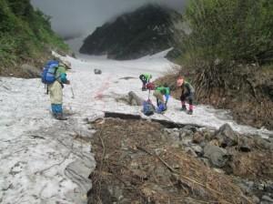 03白馬尻からの大雪渓