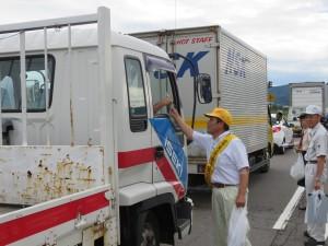 飯山市での交通指導