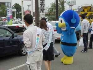 長野県警マスコットキャラクター「ライポくん」も応援に駆けつけてくれました