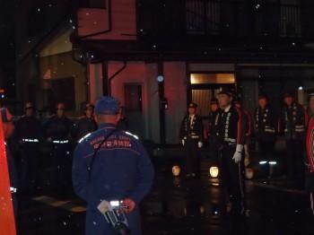 中野市消防団を督励する地方事務所長