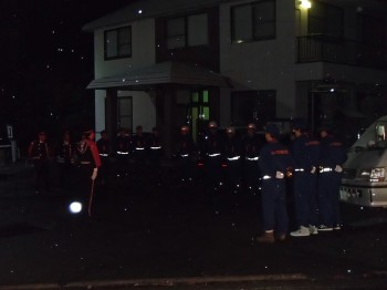 山ノ内町消防団を督励する地方事務所長