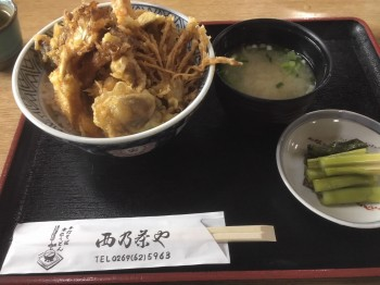 きのこ料理(天丼)