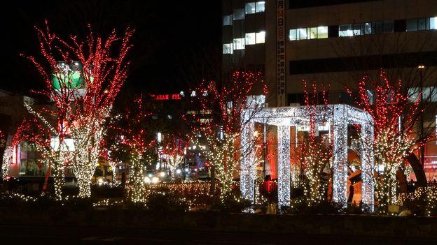 信州上田灯りの祭典~上田駅から見たイルミネーション