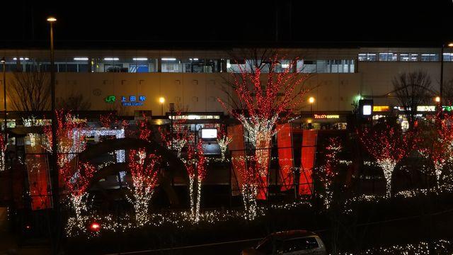信州上田灯りの祭典~上田駅ビル「パレオ」から見たイルミネーション
