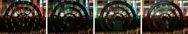 信州上田灯りの祭典~水車に投影された映像