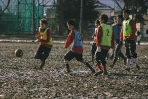 サッカー班の練習の様子