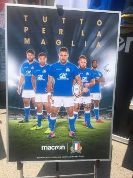 イタリアチームサイン入りポスター