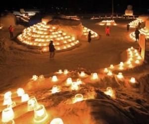 氷雪の灯祭り(開田)