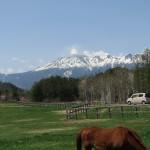 木曽馬の里から見た御嶽山