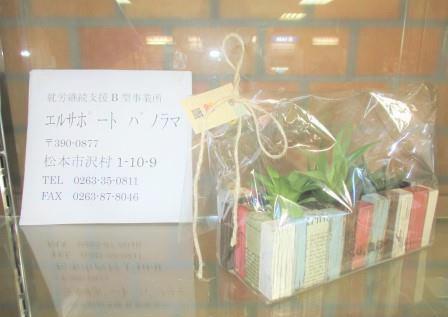 『エルサポートパノラマ』さんの製品である、ウッドクラフトのプランターに植えられた観葉植物の写真です。