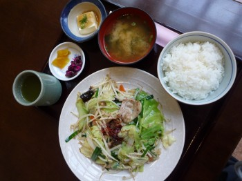 野菜いため定食(やや縮小)