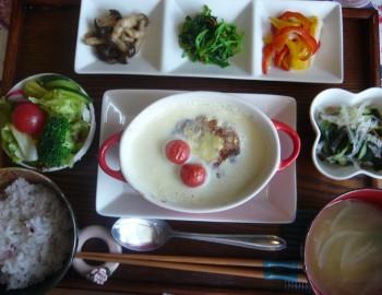 ②豆乳スープヘルシーハンバーグ2