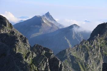 北ア奥穂高岳から見る槍ヶ岳
