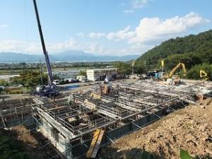 建設中の新学生寮