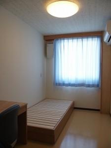 空調完備の個室が用意されています