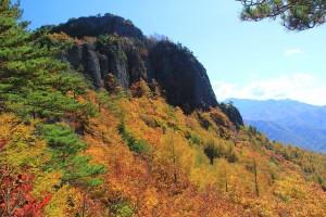 10.54岩峰の天狗山