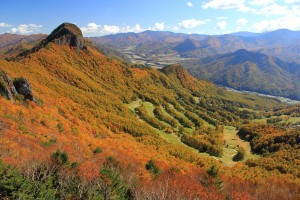 11.33川上村を見おろす天狗山