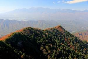頂上から八ヶ岳方面
