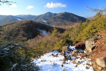 水の塔山、篭の登山