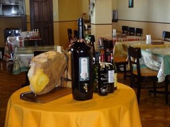 プロシュートとワイン
