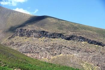浅間山の崖