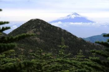 11.34三宝岳から甲武信岳、富士山