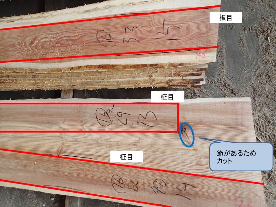 木取り状況写真