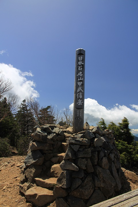 10.39甲武信岳頂上標