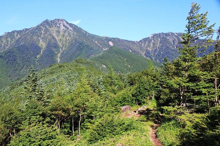 0903 08.17小天狗から赤岳横岳