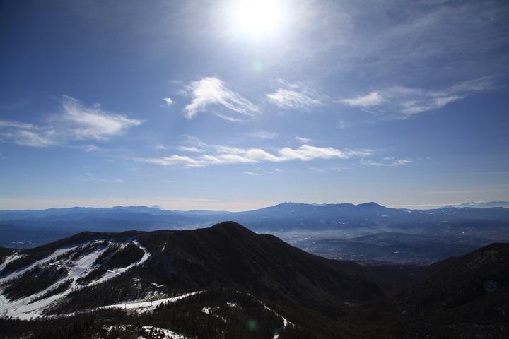 2017.12.10 11.58水ノ塔山山頂から南側