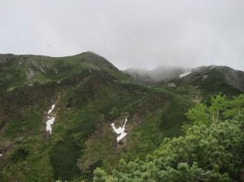 作業箇所周辺の山です
