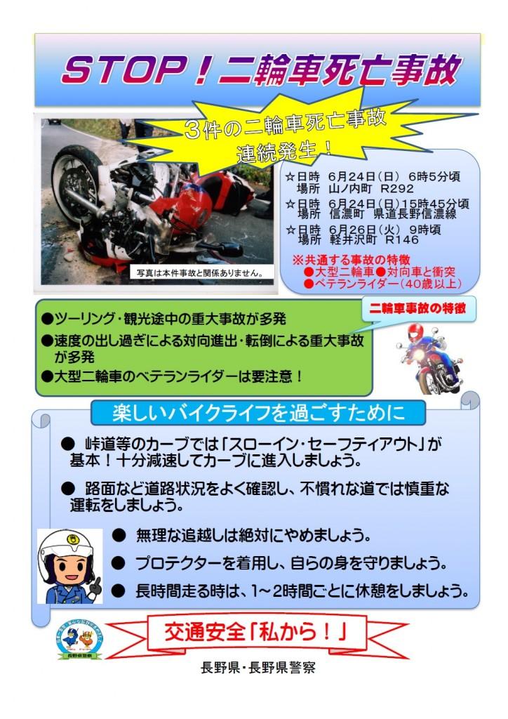二輪車事故防止